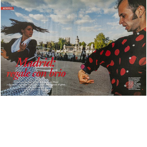 Flamenco dancers at Buen Retiro Park, Madrid, Spain