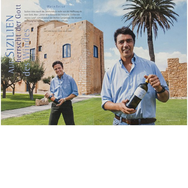 Cusumano Brothers in their winery at Partinico, Sicily, Italy